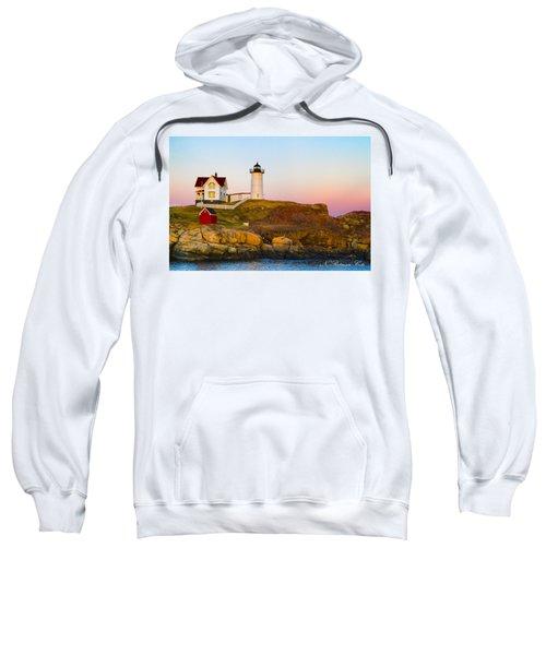 Sunset At Nubble Lighthouse Sweatshirt