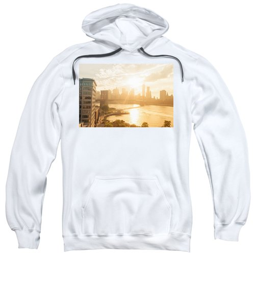 Sunset - Brooklyn Bridge - New York City Sweatshirt