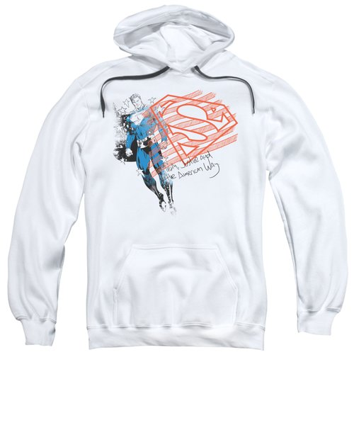 Superman - Super American Flag Sweatshirt