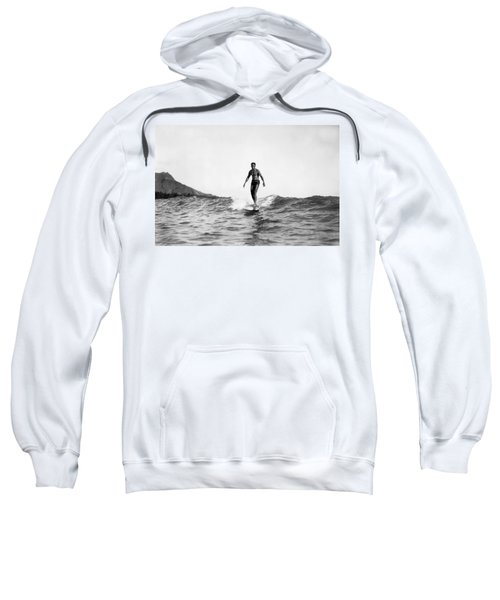 Surfing At Waikiki Beach Sweatshirt