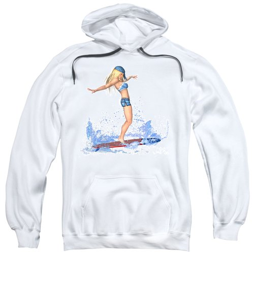 Surfing Girl Sweatshirt