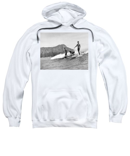 Surfing In Honolulu Sweatshirt