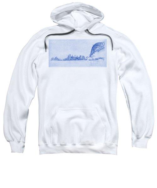 Sydney Skyline Blueprint Sweatshirt by Kaleidoscopik Photography