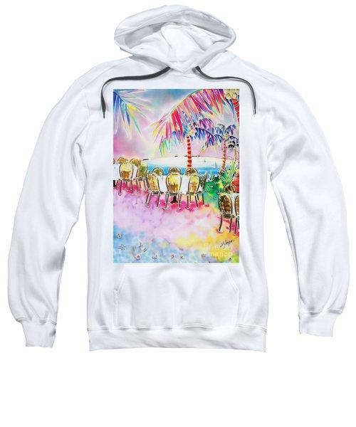 Tables On The Beach Sweatshirt