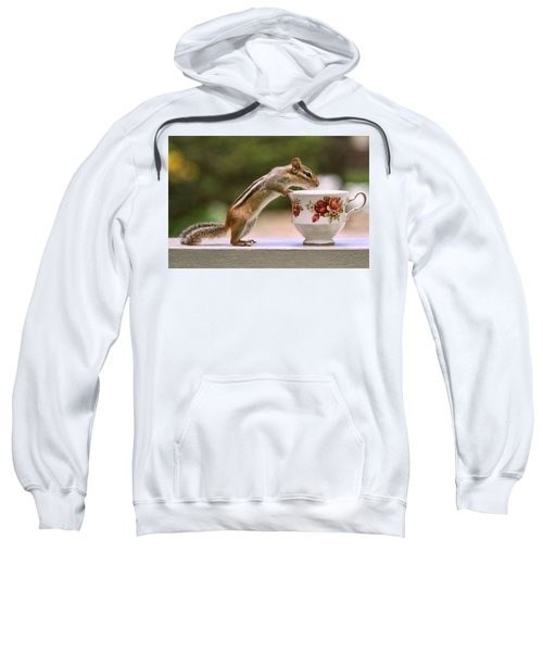 Tea Time With Chipmunk Sweatshirt