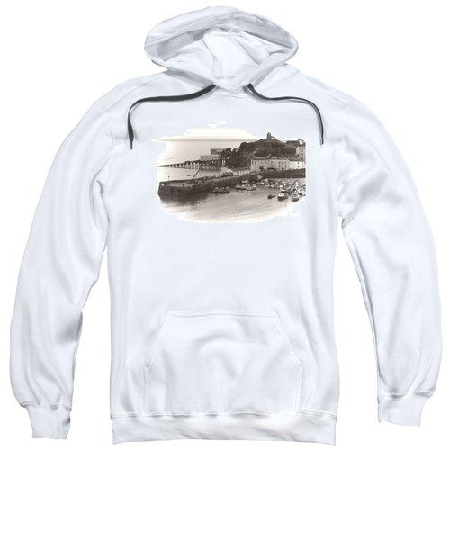 Tenby Harbour And Castle Hill Vignette Sweatshirt