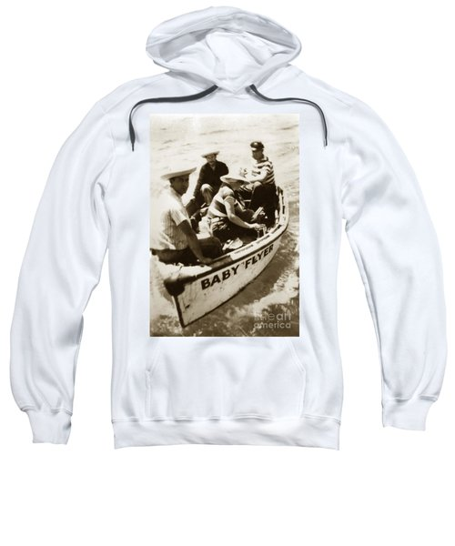 The Baby Flyer With Ed Ricketts And John Steinbeck  In Sea Of Cortez  1940 Sweatshirt