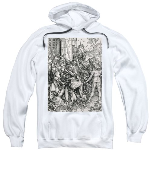 The Bearing Of The Cross From The 'great Passion' Series Sweatshirt