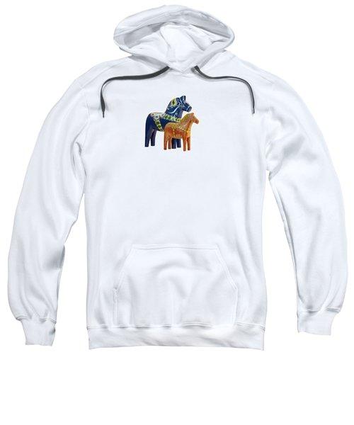The Blue And Red Dala Horse Sweatshirt