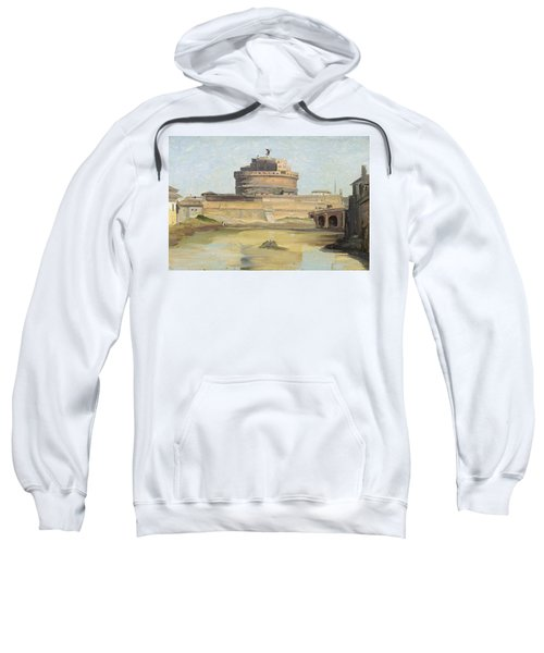 The Castle Of St. Angelo, Rome Oil On Canvas Sweatshirt