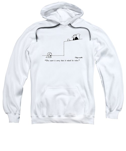 The Court Is Sorry That It Raised Its Voice Sweatshirt