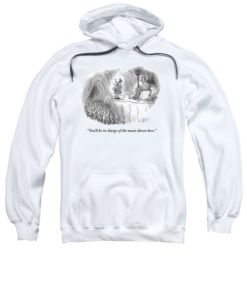 The Devil Speaks To A Bagpiper In Hell Sweatshirt