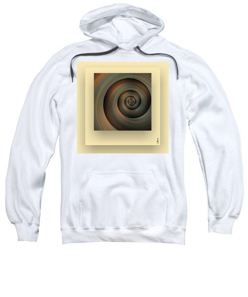 Sweatshirt featuring the digital art The Green Spiral by Mihaela Stancu