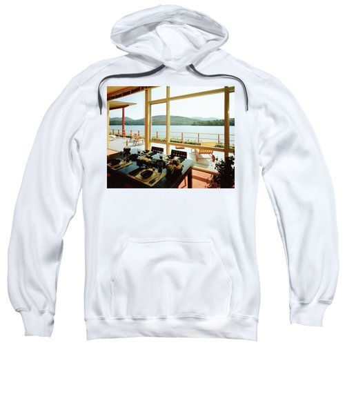 The House Of Mr. And Mrs. Alfred Rose On Lake Sweatshirt