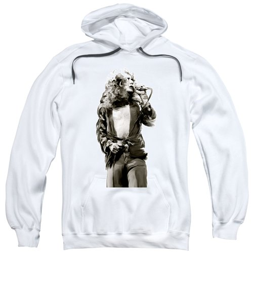 The Lion  Robert Plant Sweatshirt by Iconic Images Art Gallery David Pucciarelli