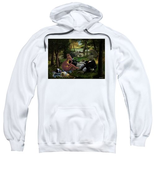 The Luncheon On The Grass With Dinosaurs Sweatshirt