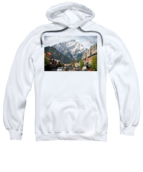 The Picturesque Town Of Banff, Canada Sweatshirt