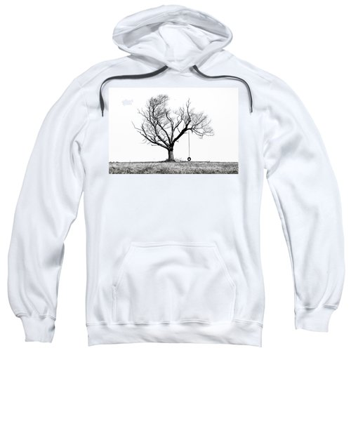 The Playmate - Old Tree And Tire Swing On An Open Field Sweatshirt