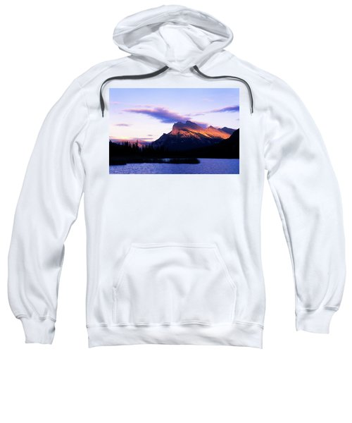 The Sun Sets On The Canadian Rockies Sweatshirt
