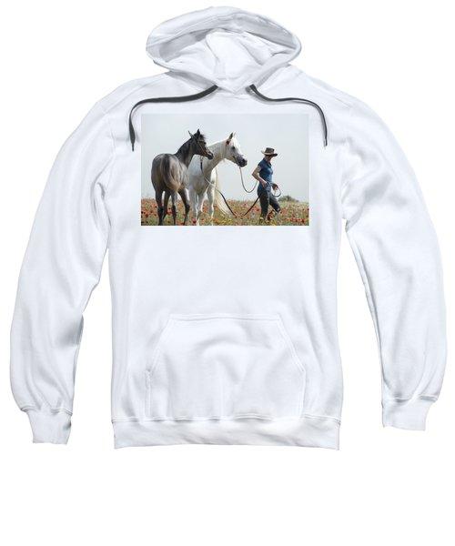 Three At The Poppies' Field... 1 Sweatshirt