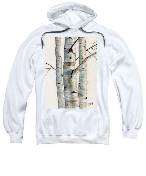 Three Birch Trees Sweatshirt
