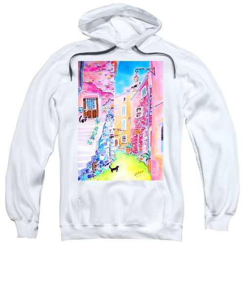 Three Cats In The Alley Sweatshirt