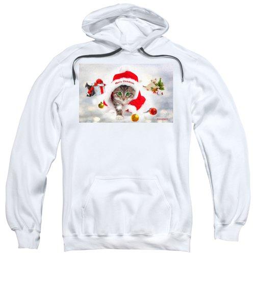 Three Christmas Kittens Sweatshirt