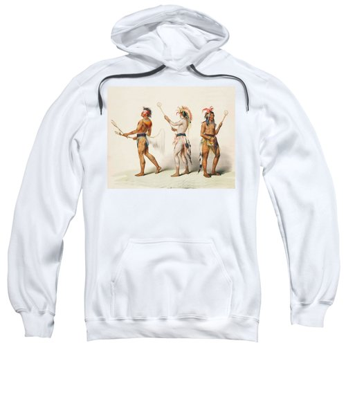 Three Indians Playing Lacrosse Sweatshirt