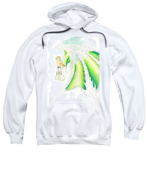 Sweatshirt featuring the painting Tobias Incomplete by Shawn Dall