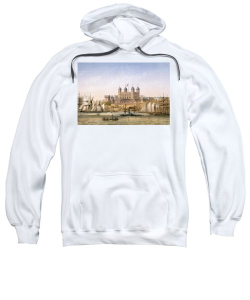Tower Of London, 1862 Sweatshirt by Achille-Louis Martinet