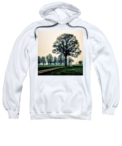 Tree At Dawn On Golf Course Sweatshirt