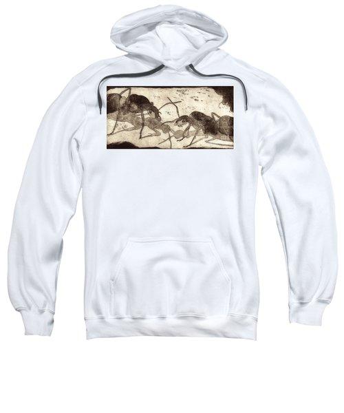 Two Ants In Communication - Etching Sweatshirt