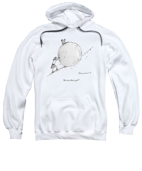 Two Children Sit At The Top Of Sisyphus's Boulder Sweatshirt