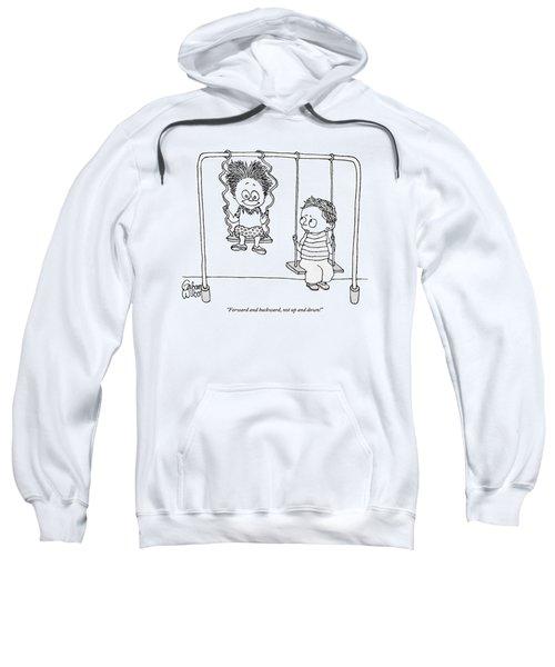 Two Children Sit On Swings Sweatshirt