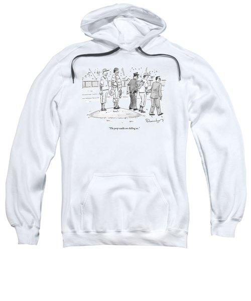 Two Cops, One In Plain Clothes, Arrest A Pitcher Sweatshirt