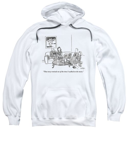Two Couples Sit Drinking Tea In A Living Room Sweatshirt