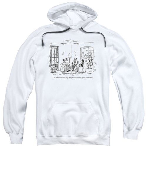 Two Couples Sitting In The Middle Of A House Sweatshirt