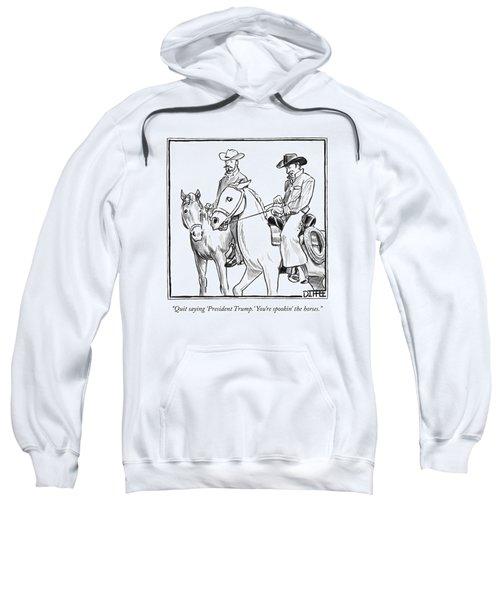Two Cowboys On Horseback Converse Sweatshirt