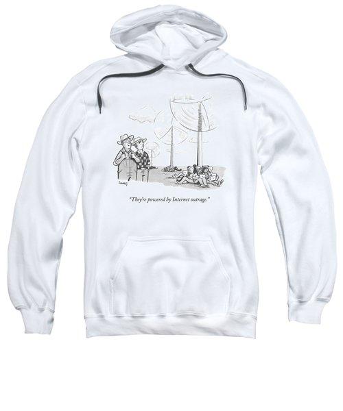 Two Farmers Overlook Wind Fans Sweatshirt
