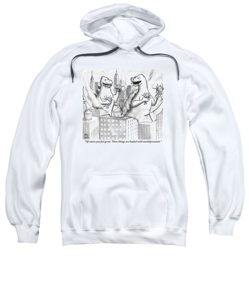Two Godzillas Talk To Each Other Sweatshirt