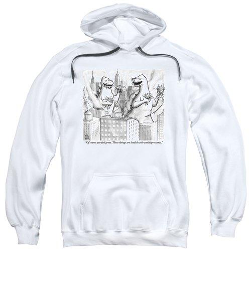 Two Godzillas Talk To Each Other Sweatshirt