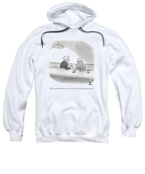 Two Grannies Smoke And Drink At A Bar Sweatshirt
