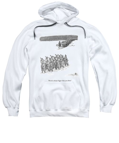 Two Groups Of Army Troops Walk In Opposite Sweatshirt