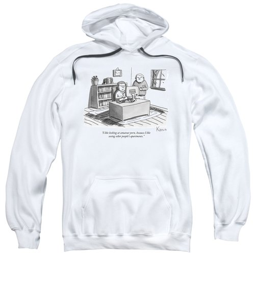 Two Guys Look At A Computer Sweatshirt