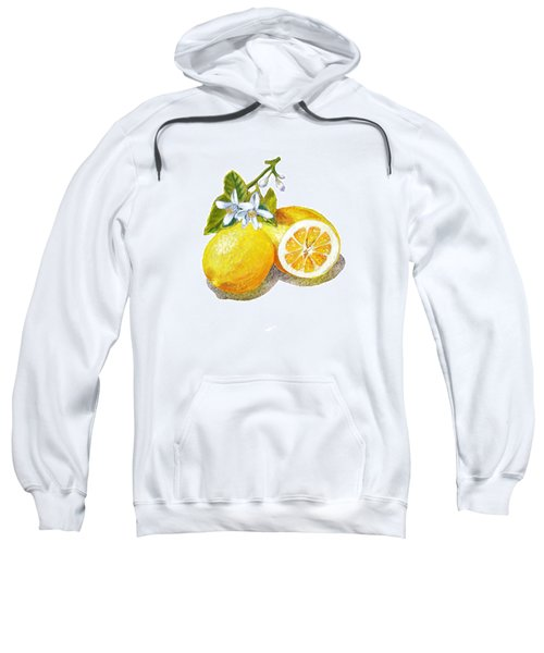 Two Happy Lemons Sweatshirt by Irina Sztukowski