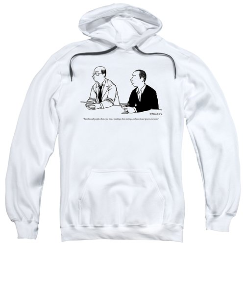 Two Men Are Seen Speaking With Each Other Sweatshirt