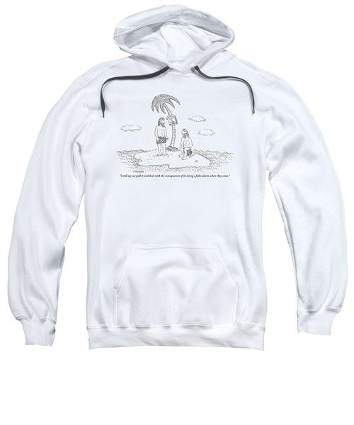Two Men Sitting On An Island Sweatshirt