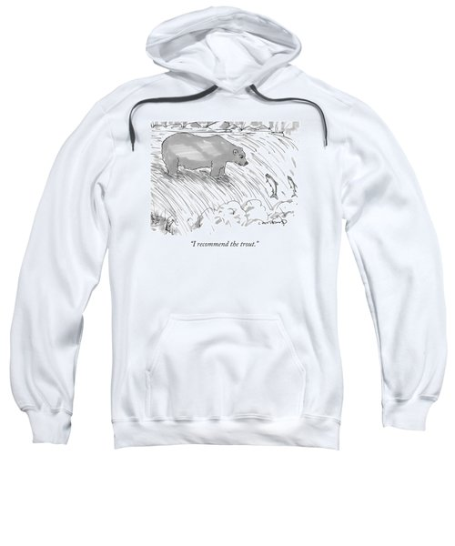 Two Salmon Jumping Upstream Sweatshirt
