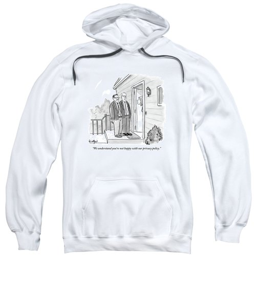 Two Suited Men Stand On The Doorstep Of A House Sweatshirt
