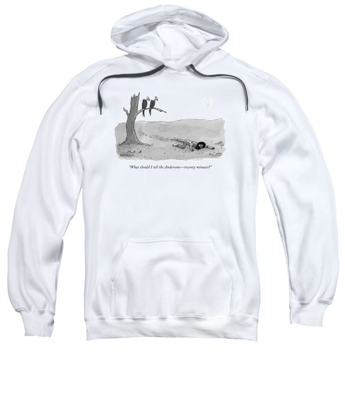 Two Vultures Watch A Man Crawl Sweatshirt